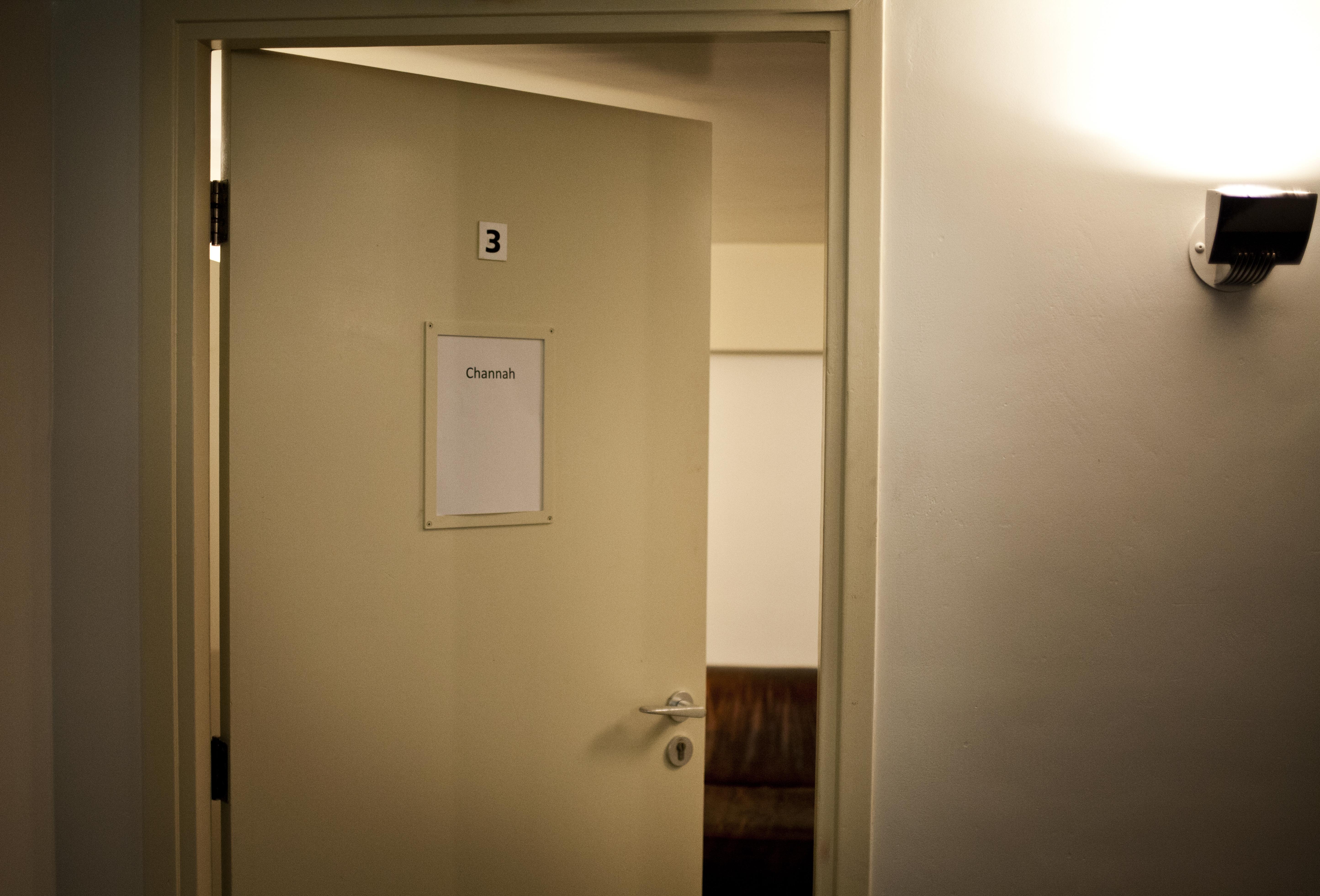 Onze kleedkamer! Hier waren we er nog niet...